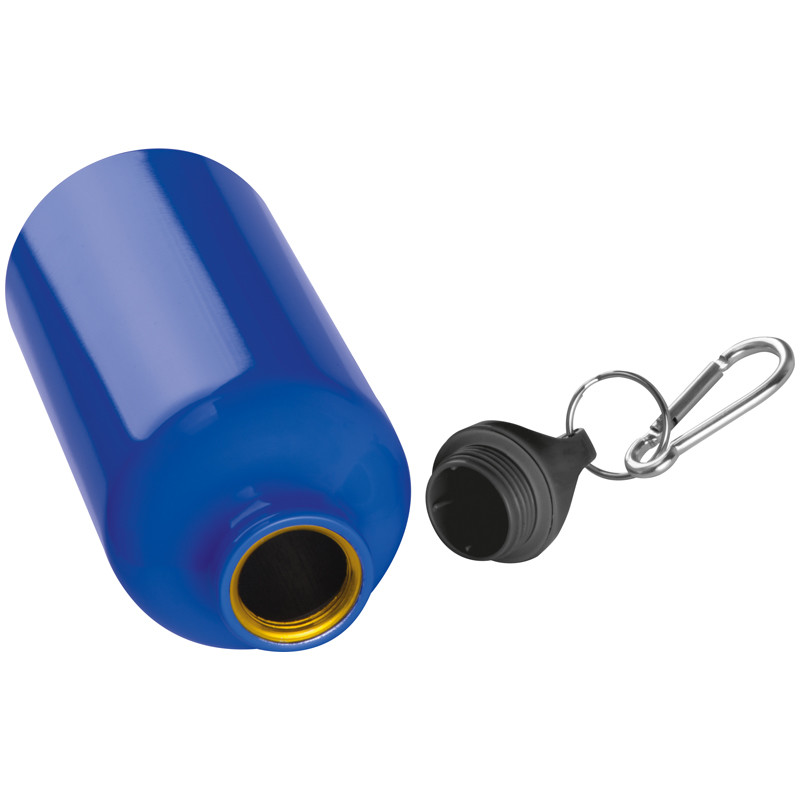 rot und schwarz je 1x blau Farbe 3x Alu Trinkflasche mit Gravur 500ml