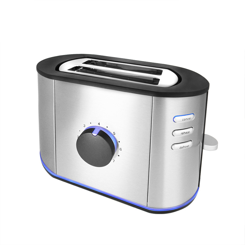 design edelstahl toaster mit blauer led beleuchtung 2 schlitz toaster ebay. Black Bedroom Furniture Sets. Home Design Ideas
