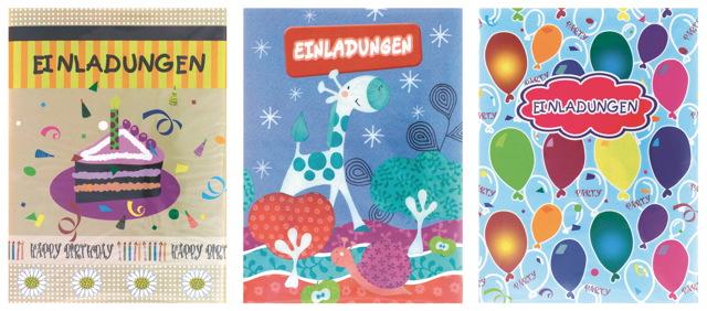... 30 Kinder Geburtstag Einladungskarten Einladung 3 Verschiedene Motive