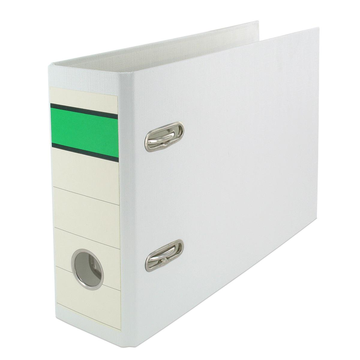 75mm je 1x blau 3x Ordner grün und weiß Farbe DIN A5