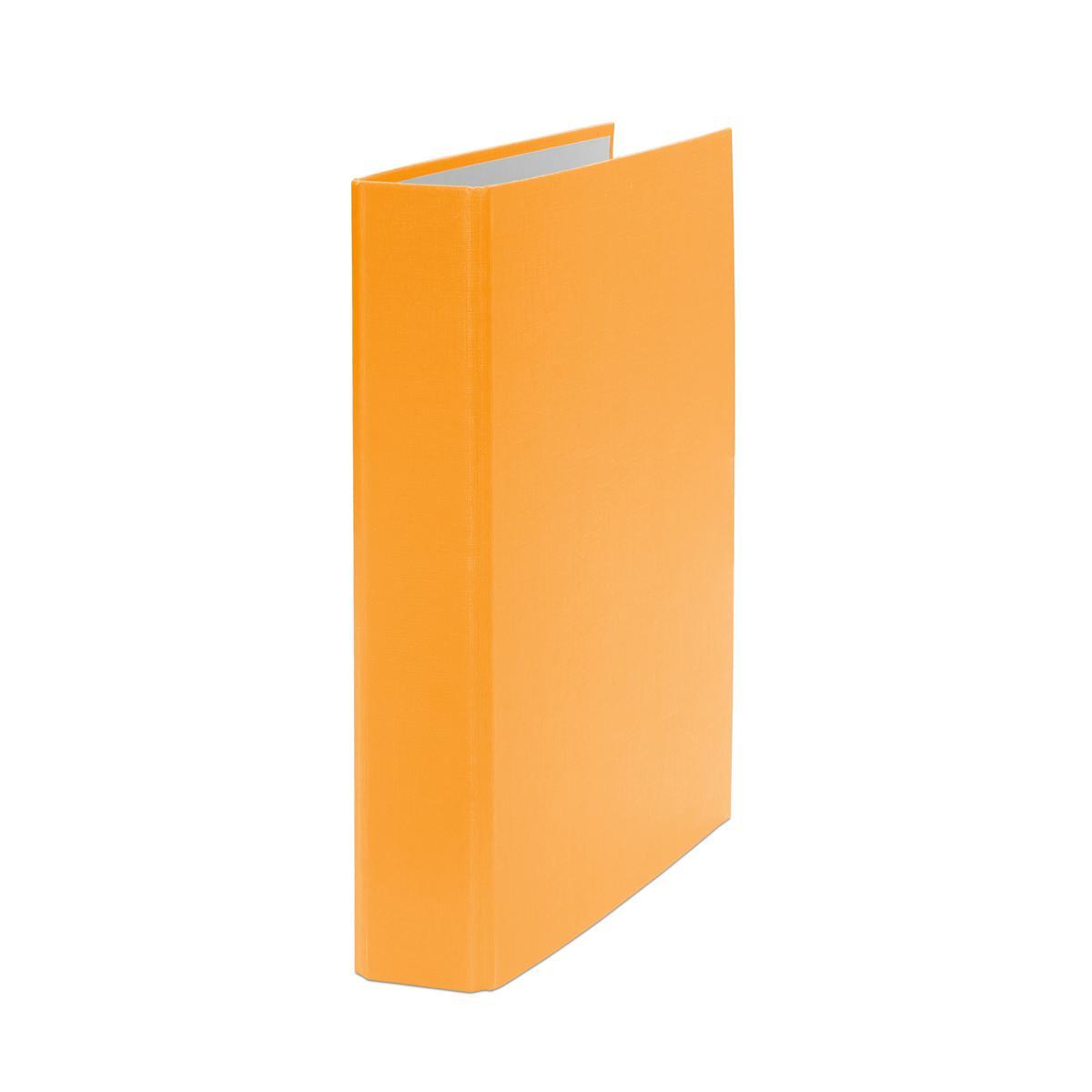 Farbe orange 10 Prospekthüllen Ringbuch DIN A5 2-Ring Ordner