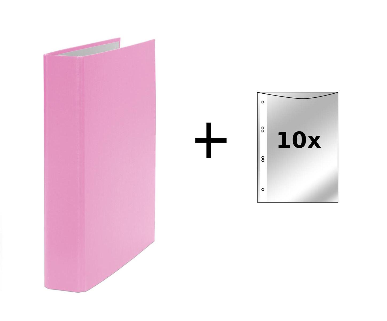 Ringbuch Din A5 2 Ring Ordner Farbe Pink 10 Prospekthullen