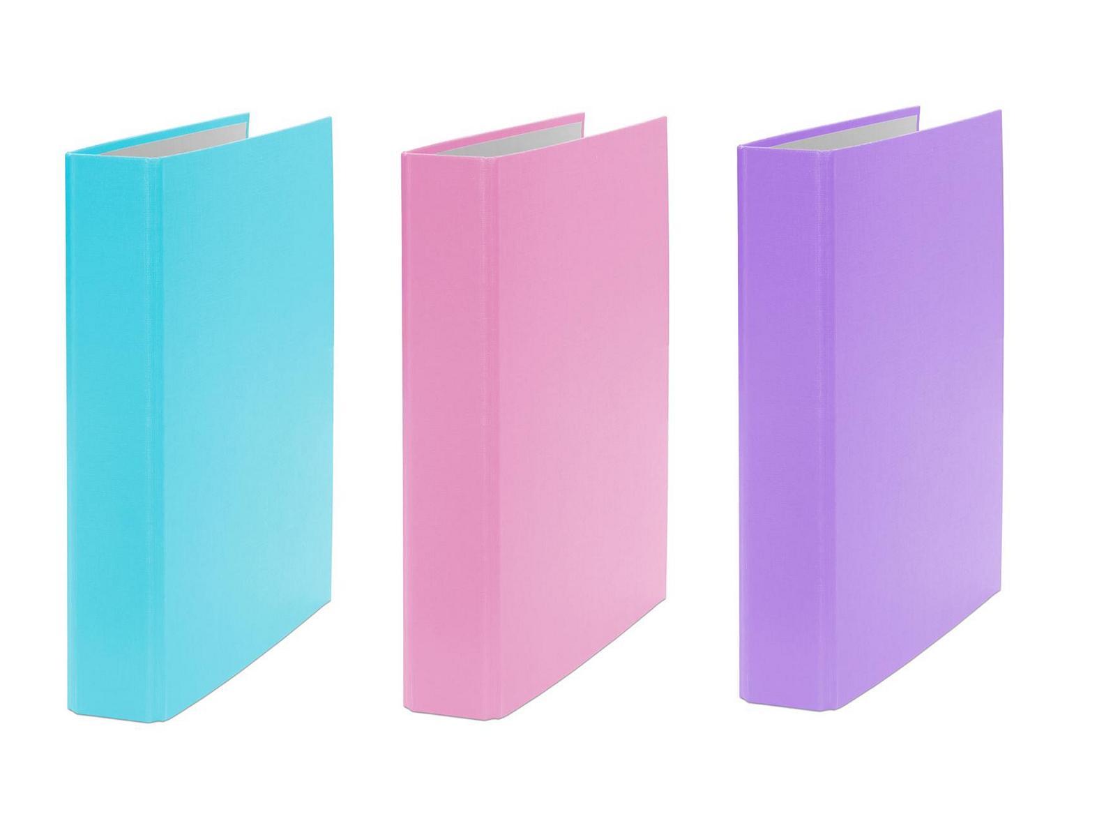 3x Ringbuch Din A5 2 Ring Ordner Farbe Je 1x Turkis Pink Und