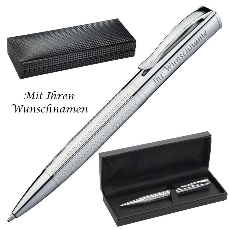 """aus Metall 10 Kugelschreiber mit Gravur /""""Viel Glück/"""" Farbe türkis"""