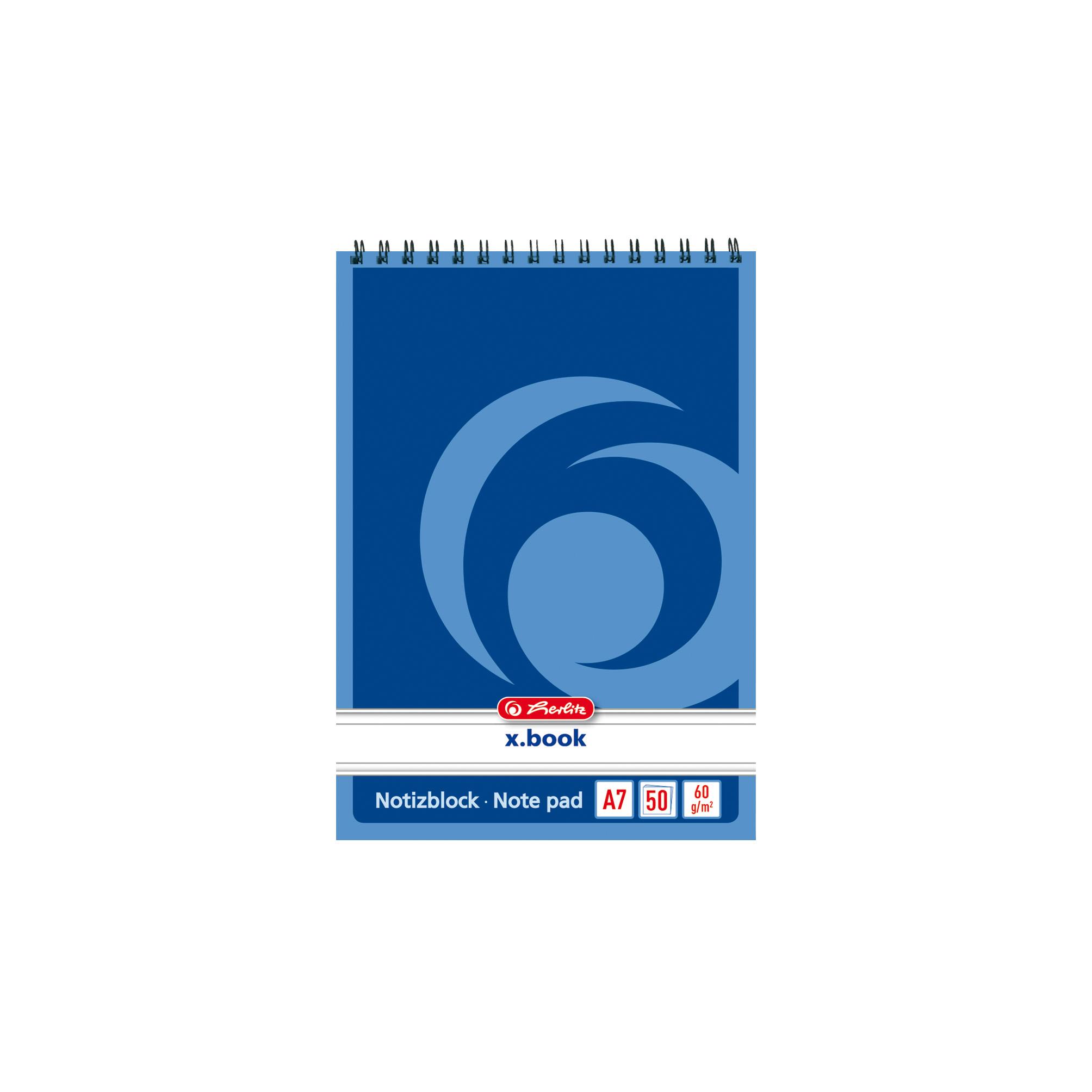 10x Herlitz Spiral Notizblock Schreibblock Din A7 Liniert Ebay