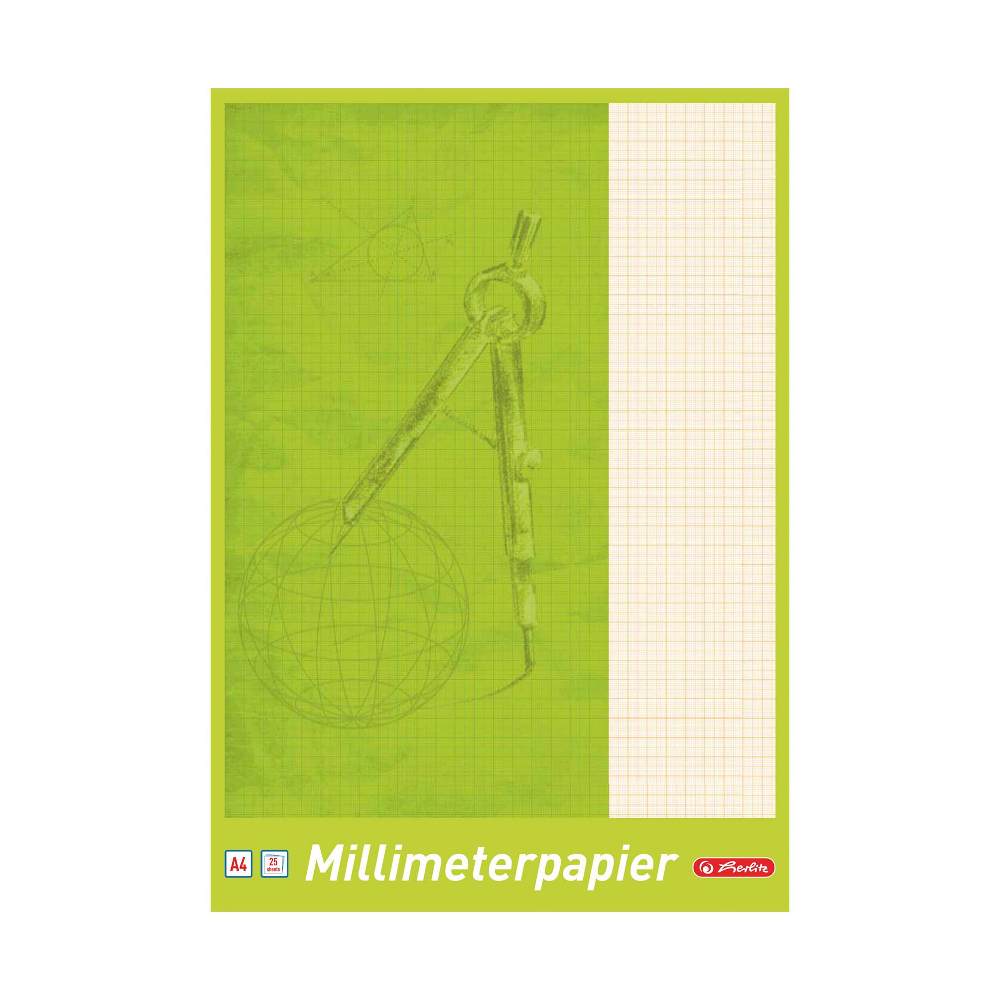 Herlitz Millimeterpapier 25 Blatt Din A4 Ebay