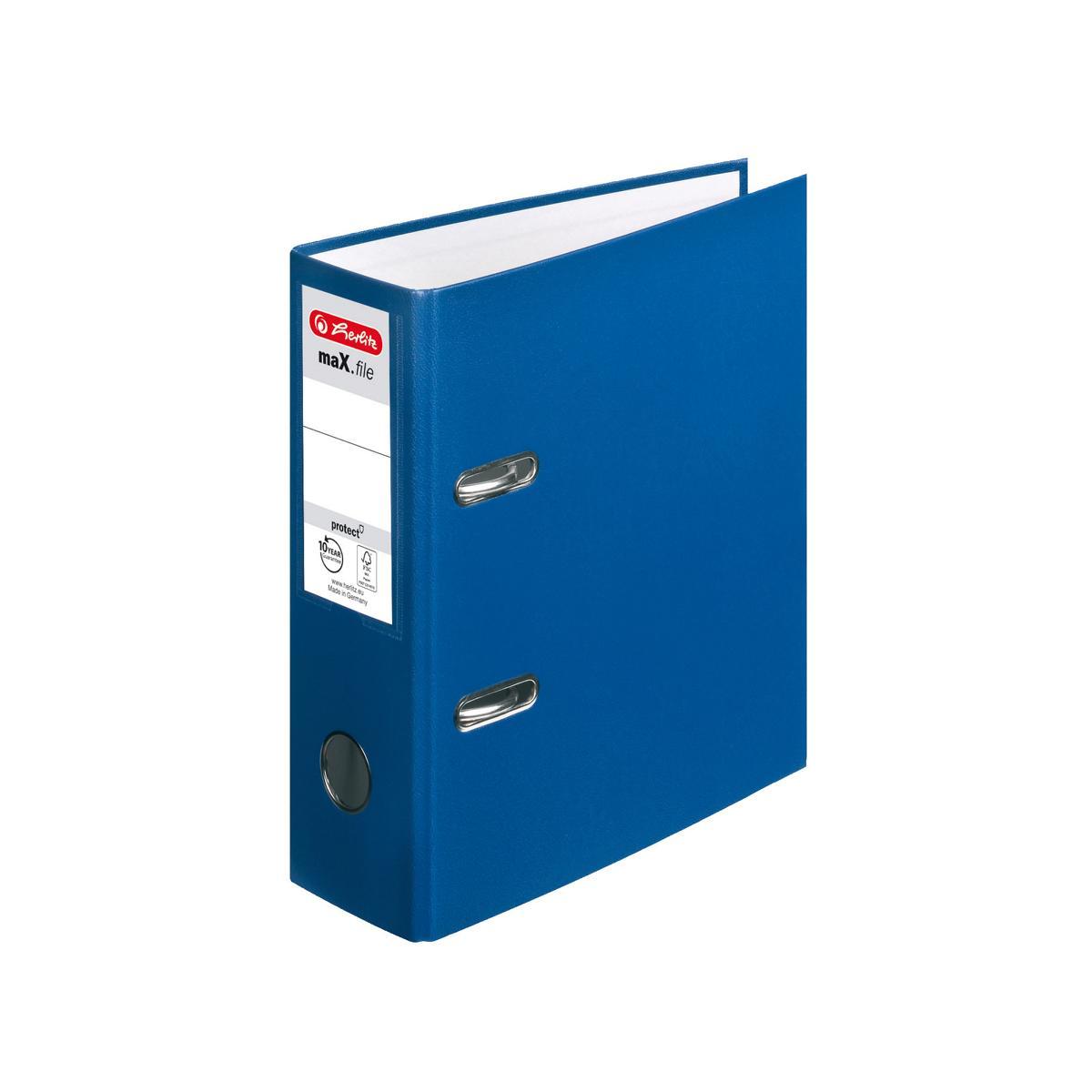 Herlitz Ordner Din A5 80mm Breit Farbe Blau Ebay