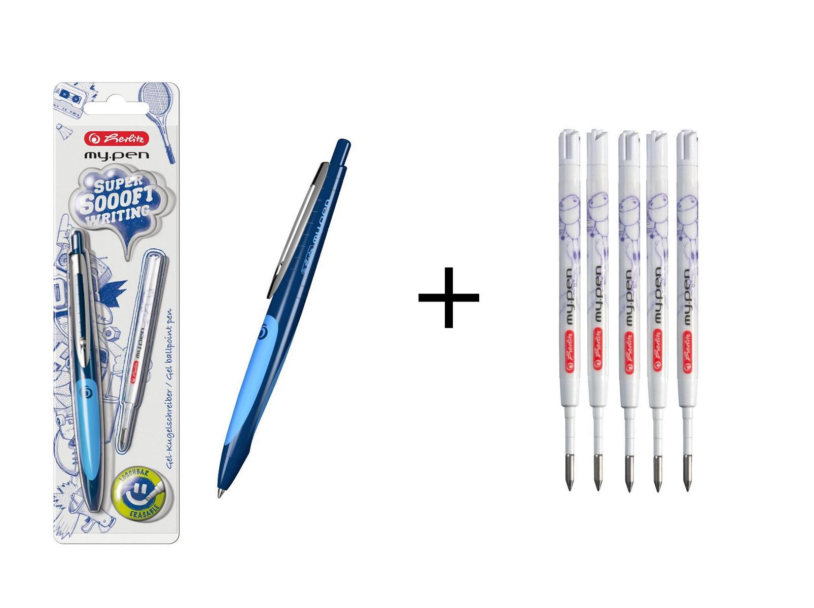 Herlitz Gel Kugelschreiber My Pen Farbe Dunkelblau Hellblau 5