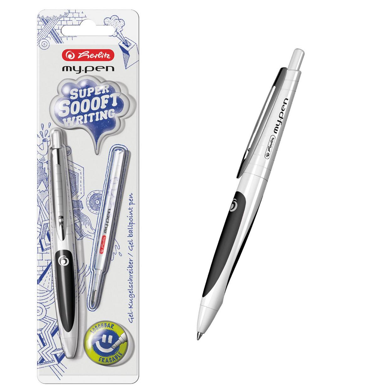 Herlitz Gel Kugelschreiber My Pen Farbe Weiss Schwarz Ebay