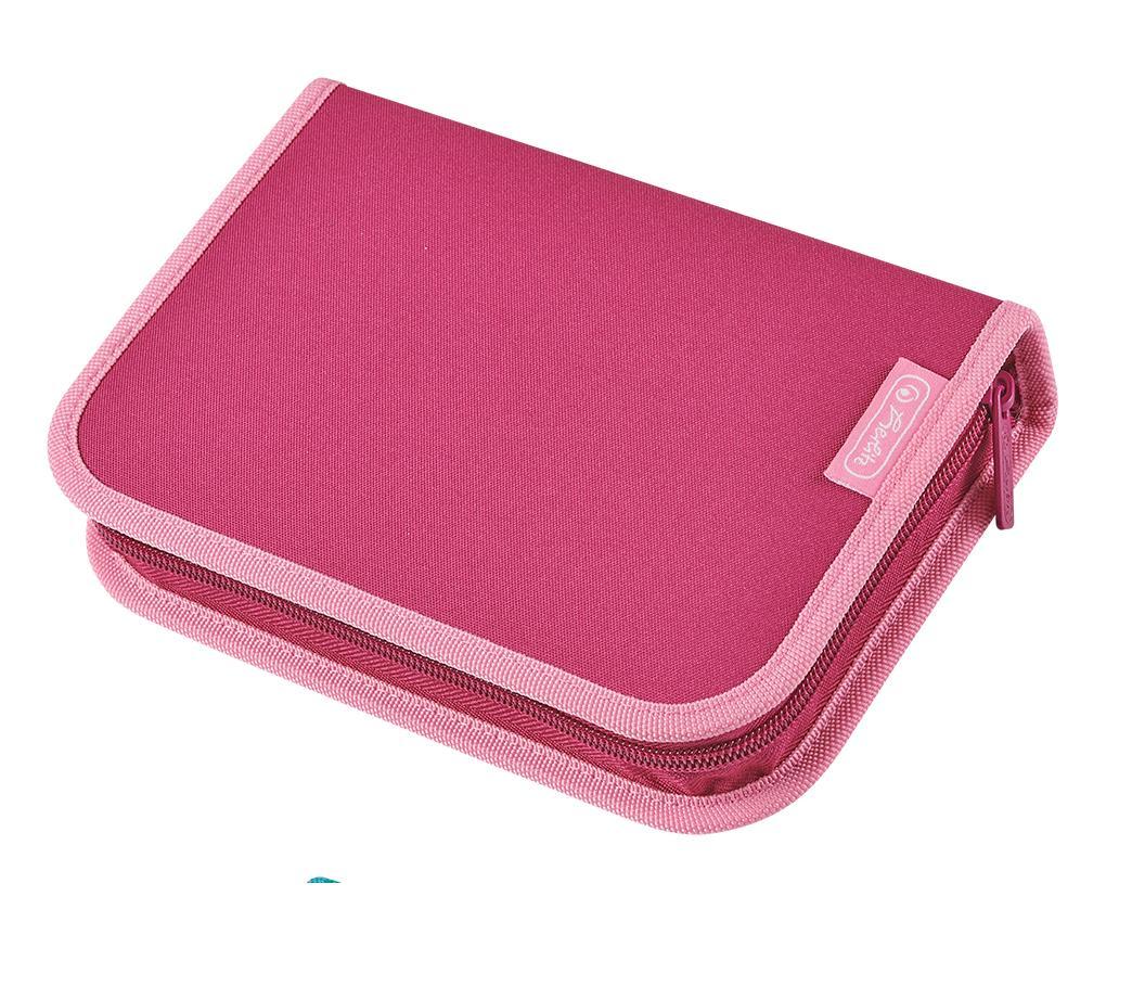 Schüleretui HerlitHerlitz Federtasche Farbe Federmappe beere//pink