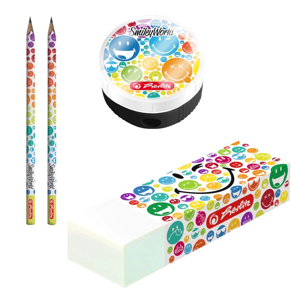 Herlitz Bleistift Set Smiley Mit 2 Bleistifte Hb Radierer