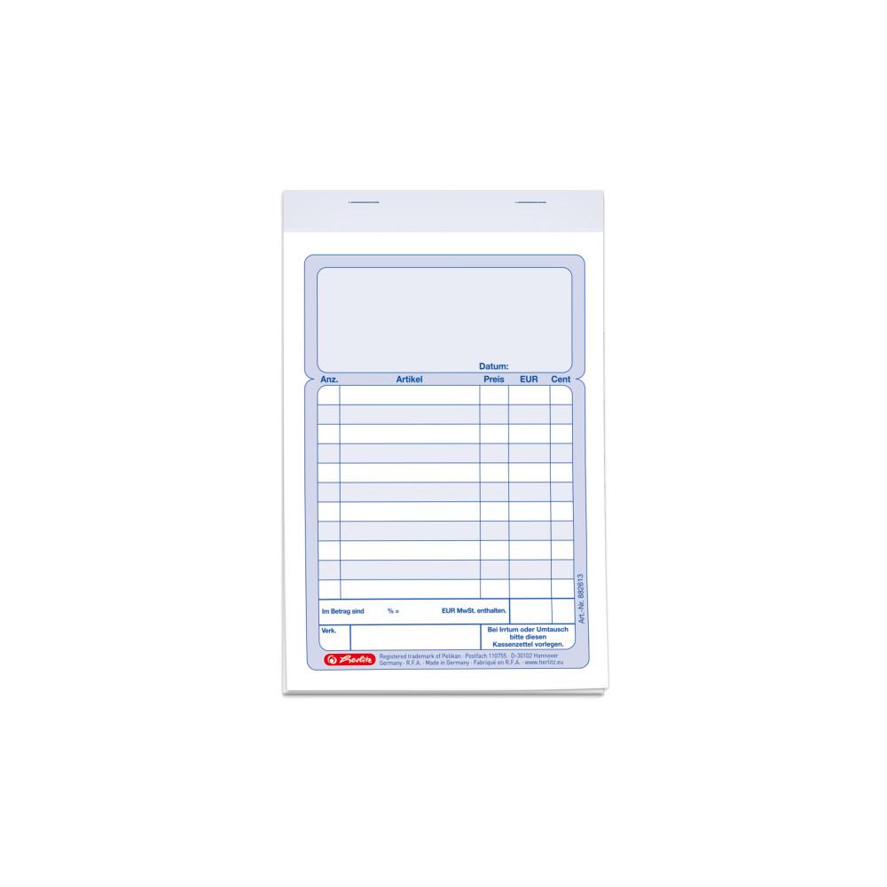 Herlitz Kassenblock A6 2x 50 Blatt Ebay