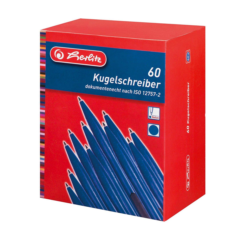 60 Herlitz Druckkugelschreiber Schreibfarbe Blau Ebay