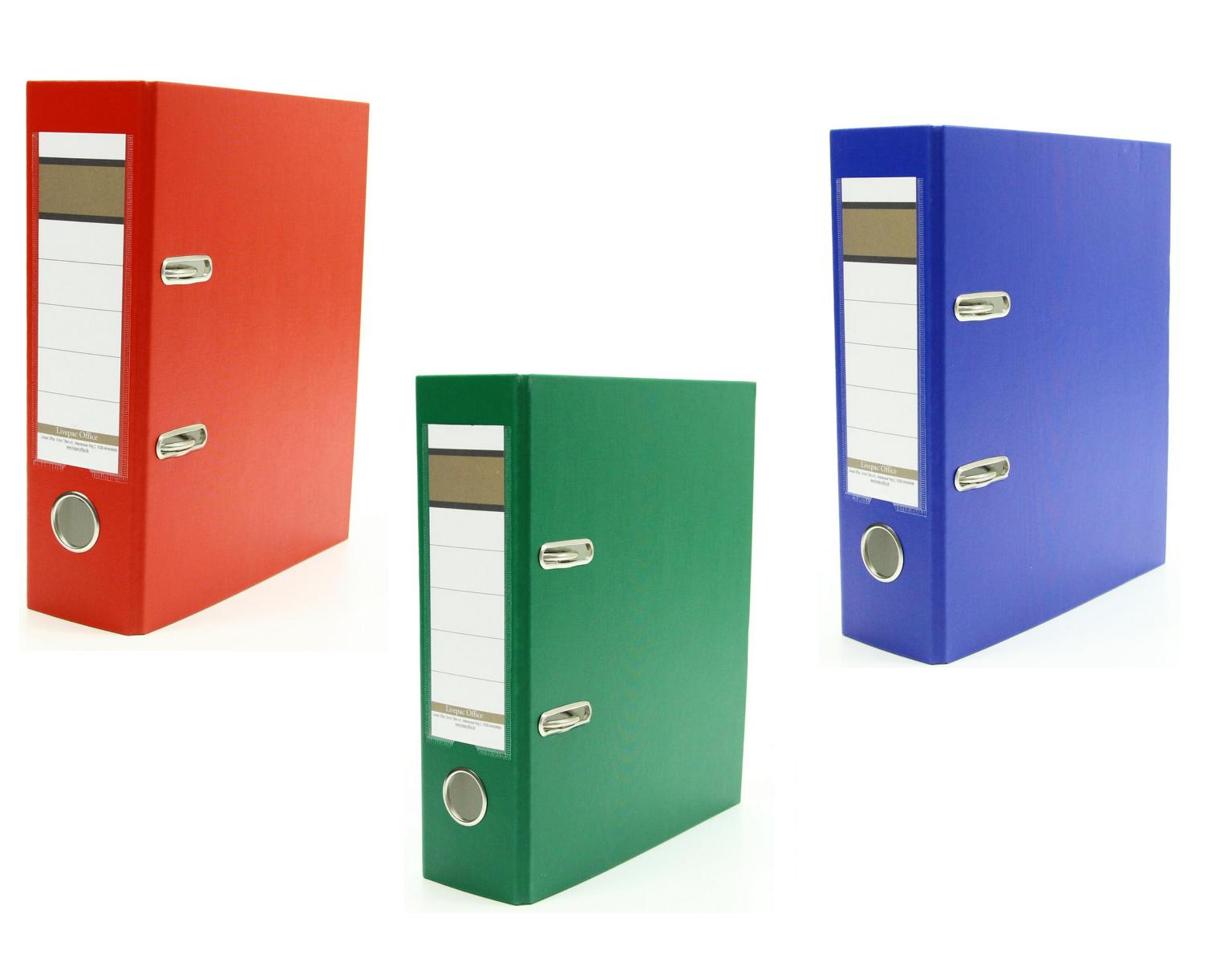 3x Ordner Din A5 75mm Farbe Je 1x Blau Rot Und Grun Ebay