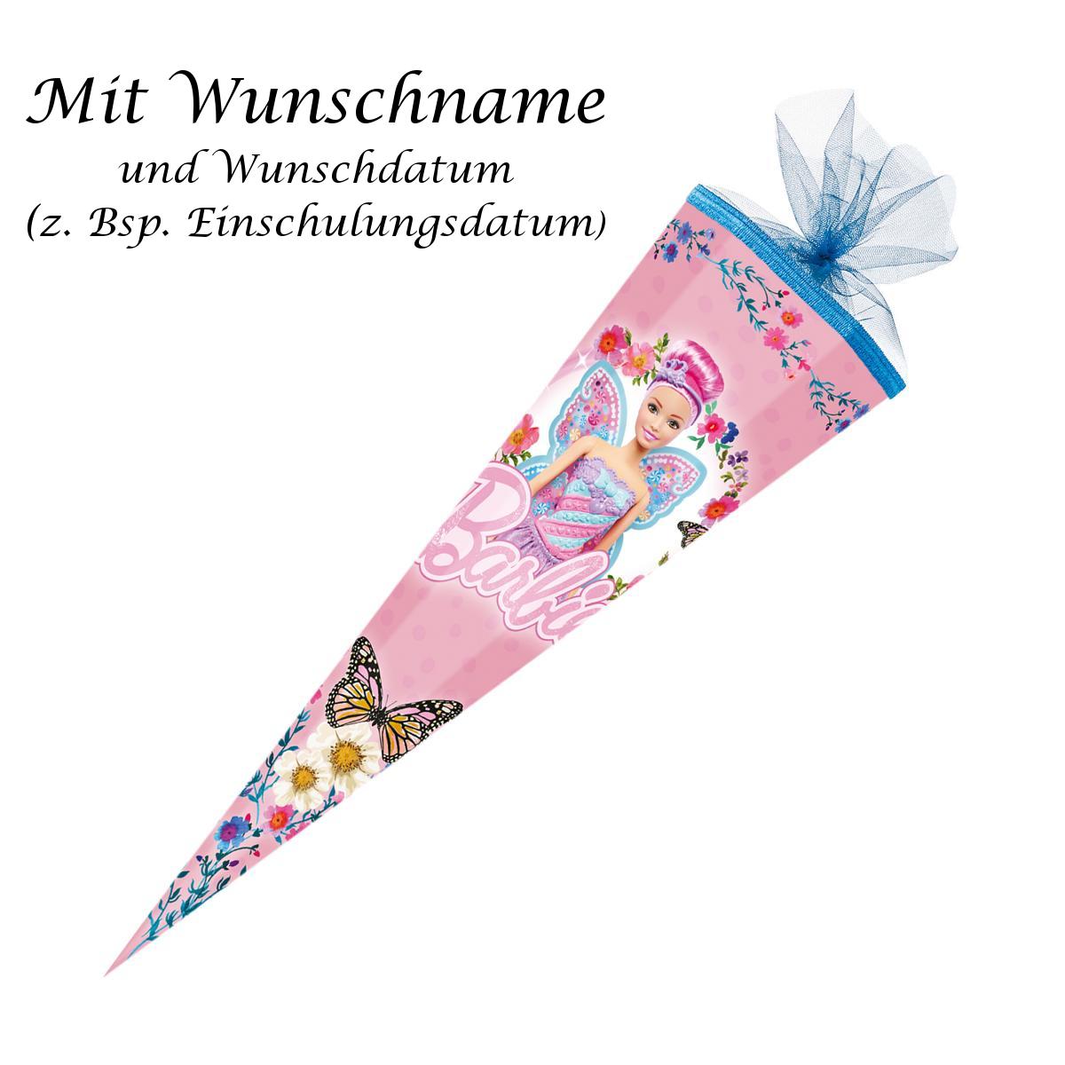 """/""""Märchenprinzessin/"""" Zuckertüte 35cm rund Schultüte mit gold gefärbter Gravur"""