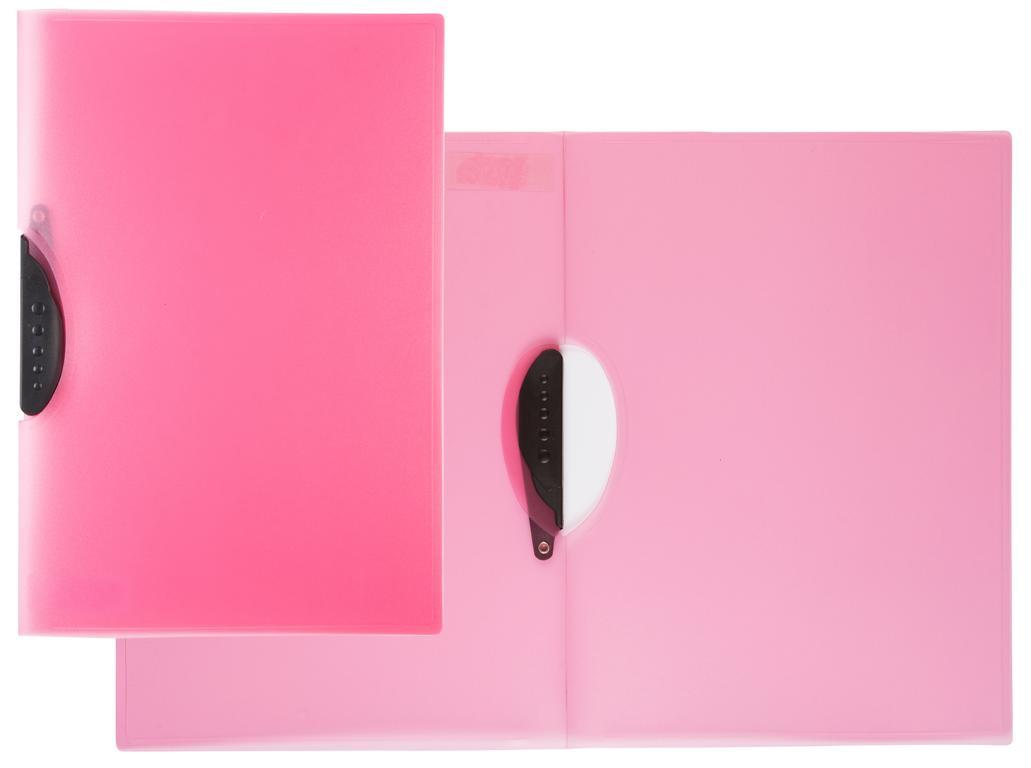 Swinghefter Din A4 Klemmhefter Clipmappe Farbe Transluzent Pink
