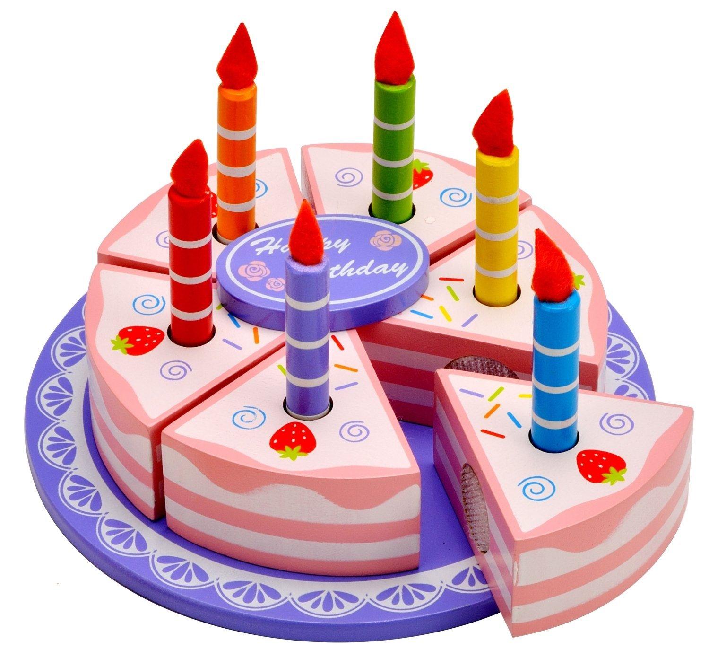 Idena Geburtstagstorte / Geburtstagskuchen / aus Holz / 15tlg. | eBay