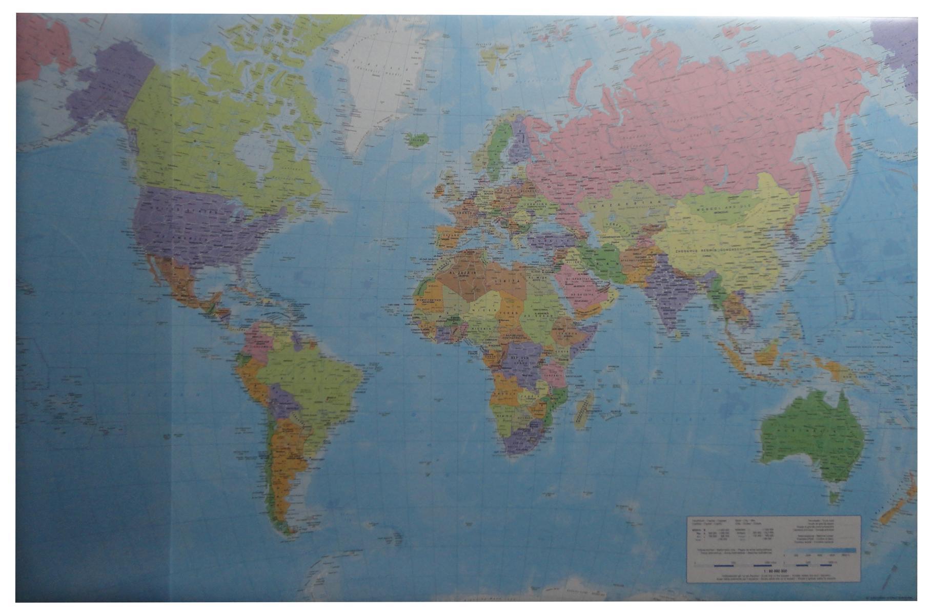 Schreibtischunterlage 38 5x58 5cm Weltkarte Ebay