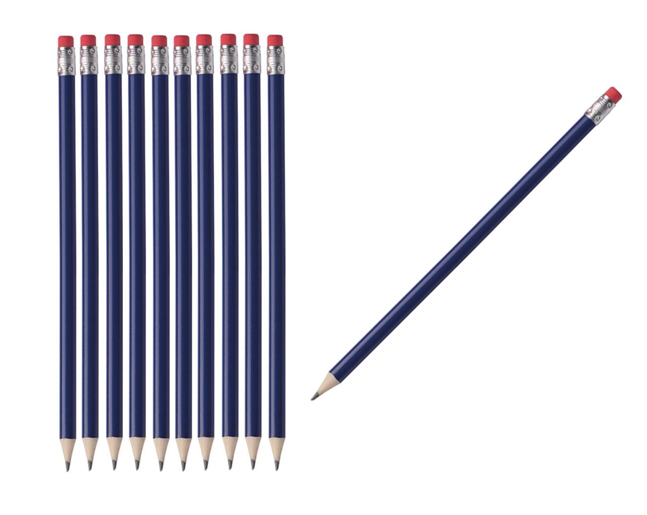 100 Bleistifte Mit Radierer Hb Ohne Herstellerlogo Farbe