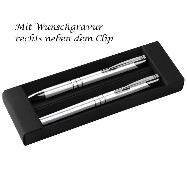 """Kugelschreiber mit Gravur /""""Viel Glück/"""" aus Metall Farbe roségold"""