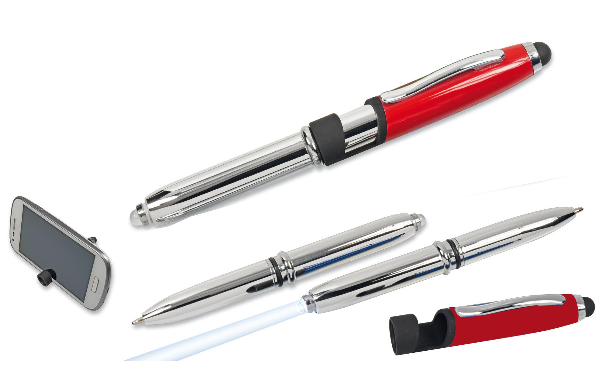 5x Led Touchpen Kugelschreiber Mit Licht Und Smartphone Halterung