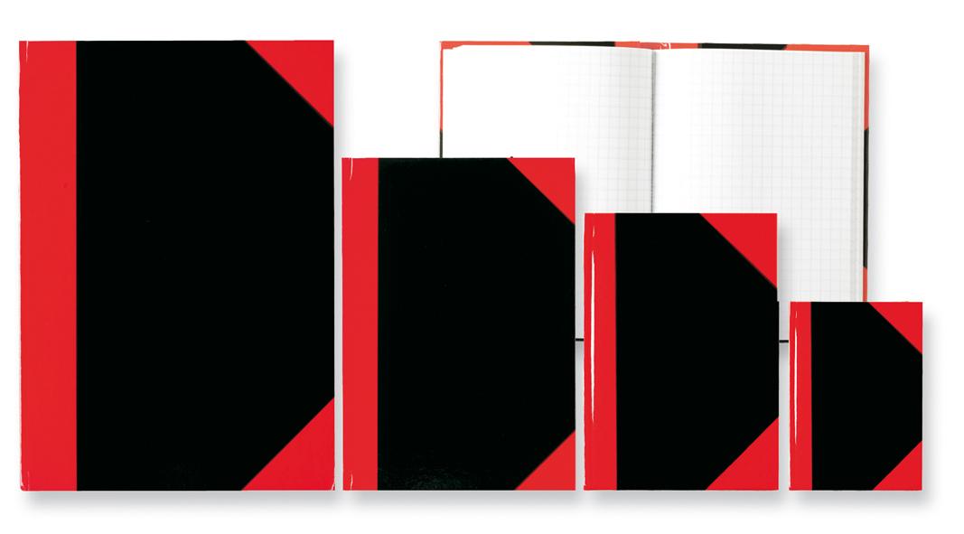 Notizbuch 96 Blatt 5 Kladden Farbe schwarz 70g//m² DIN A6 kariert